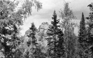 Красноярские Столбы на любительских фото 60-х.