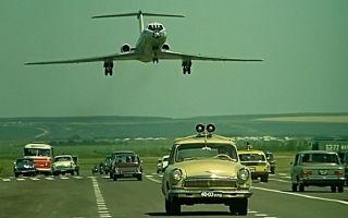 Посадку самолёта на шоссе