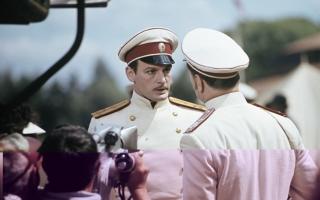 """Василий Лановой на съёмках """"Анны Карениной"""", 1966 год"""