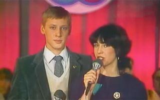 Ещё не гардемарин Дмитрий Харатьян на Фестивале молодёжи и студентов, 1985 год
