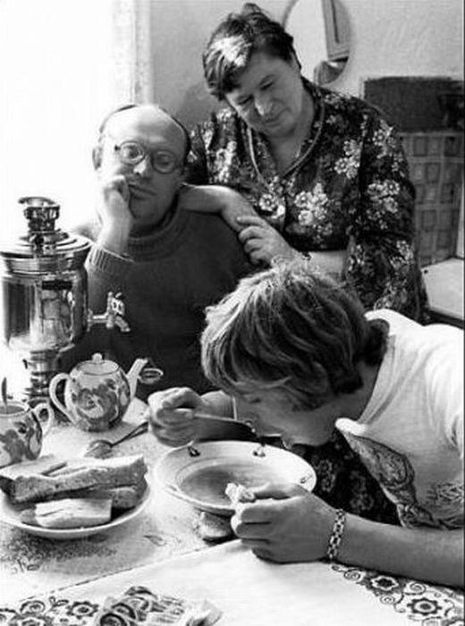 Обед в советской семье