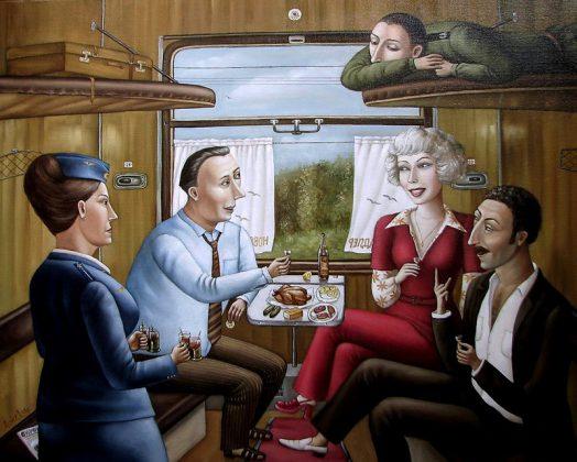СССР Ностальгия В купе поезда