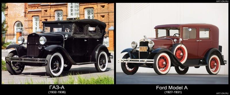 Автопром СССР - одна большая копия западных авто СССР, авто, история