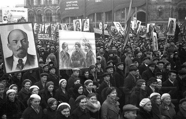 1940 год 7 ноября, СССР, демонстрация, застолье, парад, революция