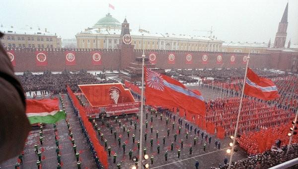 1987 год 7 ноября, СССР, демонстрация, застолье, парад, революция