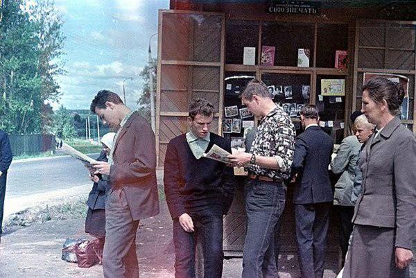 В ожидании автобуса, 1965 год. Моменты из прошлого, СССР, детство, ностальгия, подборка