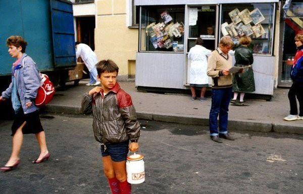 За молоком. 1987 год Моменты из прошлого, СССР, детство, ностальгия, подборка