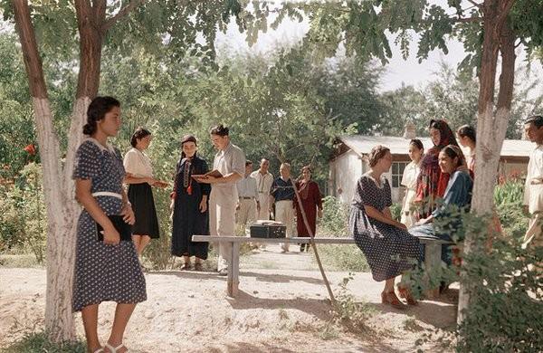 Студенты государственного Туркменского института в университетском парке. Ашхабад, 1950-е Моменты из прошлого, СССР, детство, ностальгия, подборка