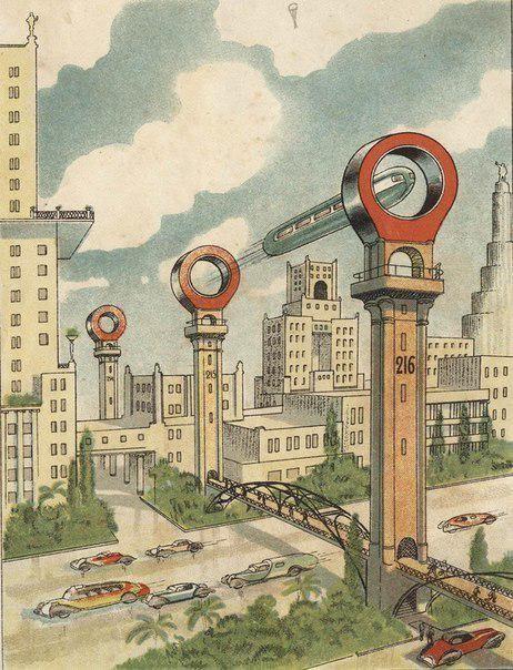Вот так, в 1930-х годах, представляли Метро будущего в Москве ;) Моменты из прошлого, СССР, детство, ностальгия, подборка