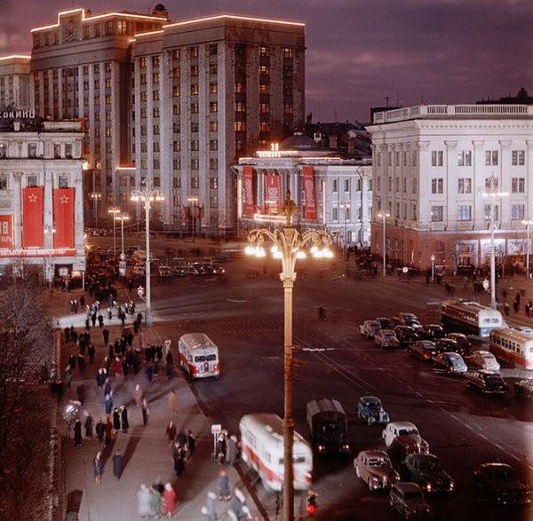 Вечерняя Москва 50-х Моменты из прошлого, СССР, детство, ностальгия, подборка