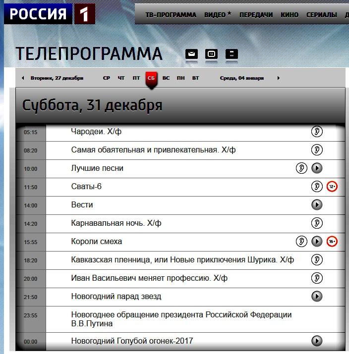 программа 2016 Россия 1